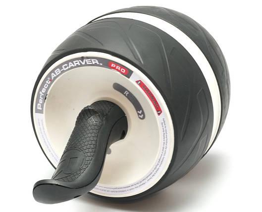 Колесо для мышц пресса (MS 2209-1) Белое, широкое с возвратным механизмом., фото 2
