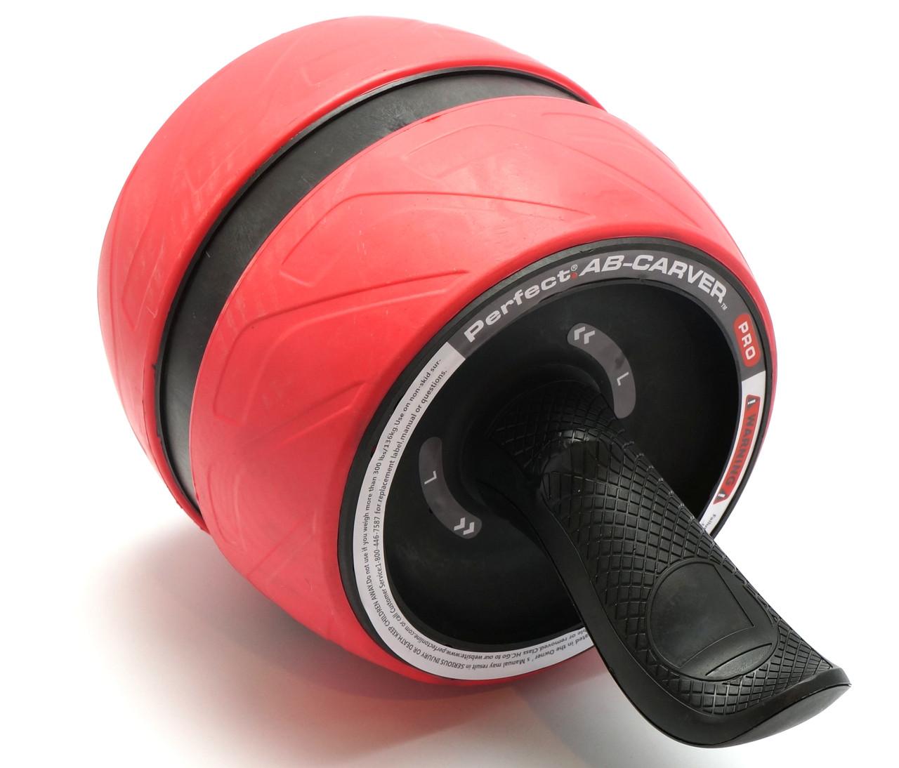 Колесо для мышц пресса (MS 2209-1) Красное, широкое с возвратным механизмом.