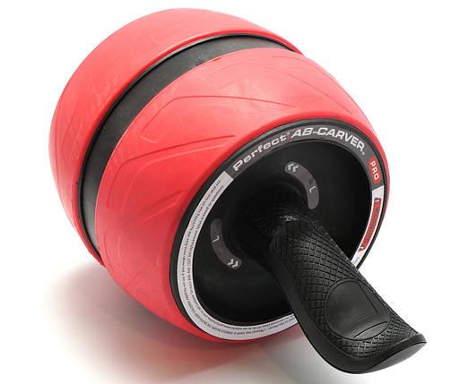 Колесо для мышц пресса (MS 2209-1) Красное, широкое с возвратным механизмом., фото 2