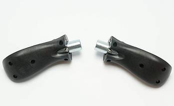 Колесо для мышц пресса (MS 2209-1) Бордовое, широкое с возвратным механизмом., фото 3