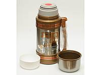 Термос + 2 чашки, 1,5л (высокое качество). Термос для жидкости. Термос питьевой.