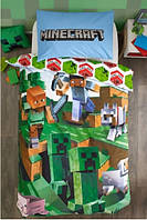 Постельное белье полуторный комплект Minecraft Майнкрафт для мальчика
