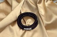 Двойной браслет  в стиле Stardust Swarovski Чернильный Премиум