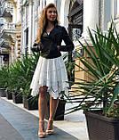 Женская черная куртка из телячьей кожи, фото 7
