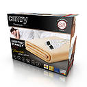 Электрическое одеяло Camry CR 7408 двухспальное для обогрева мощность 120 Вт, 150 см х 160 см, фото 2