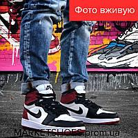 Мужские кроссовки Nike Jordan 1 Retro разноцветные   Найк Джордан 1 Ретро,кожа, стильные, модные,  2019