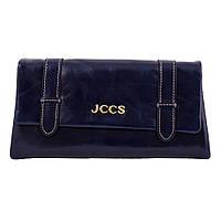 Кошелек  клатч женский кожаный JCCS W-JS01565 синий