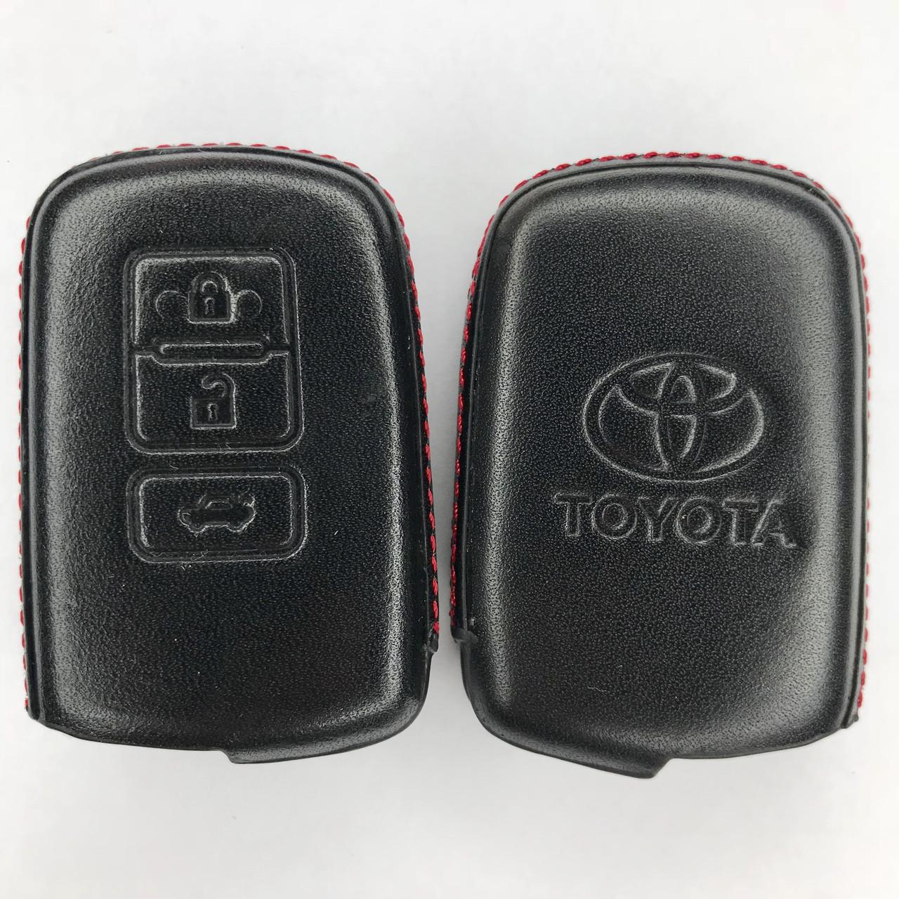 Кожаный чехол для ключа Toyota Yaris,Auris,Highlander, Land Cruiser,Rav4,Camry,Corolla, Avalon,Avensis