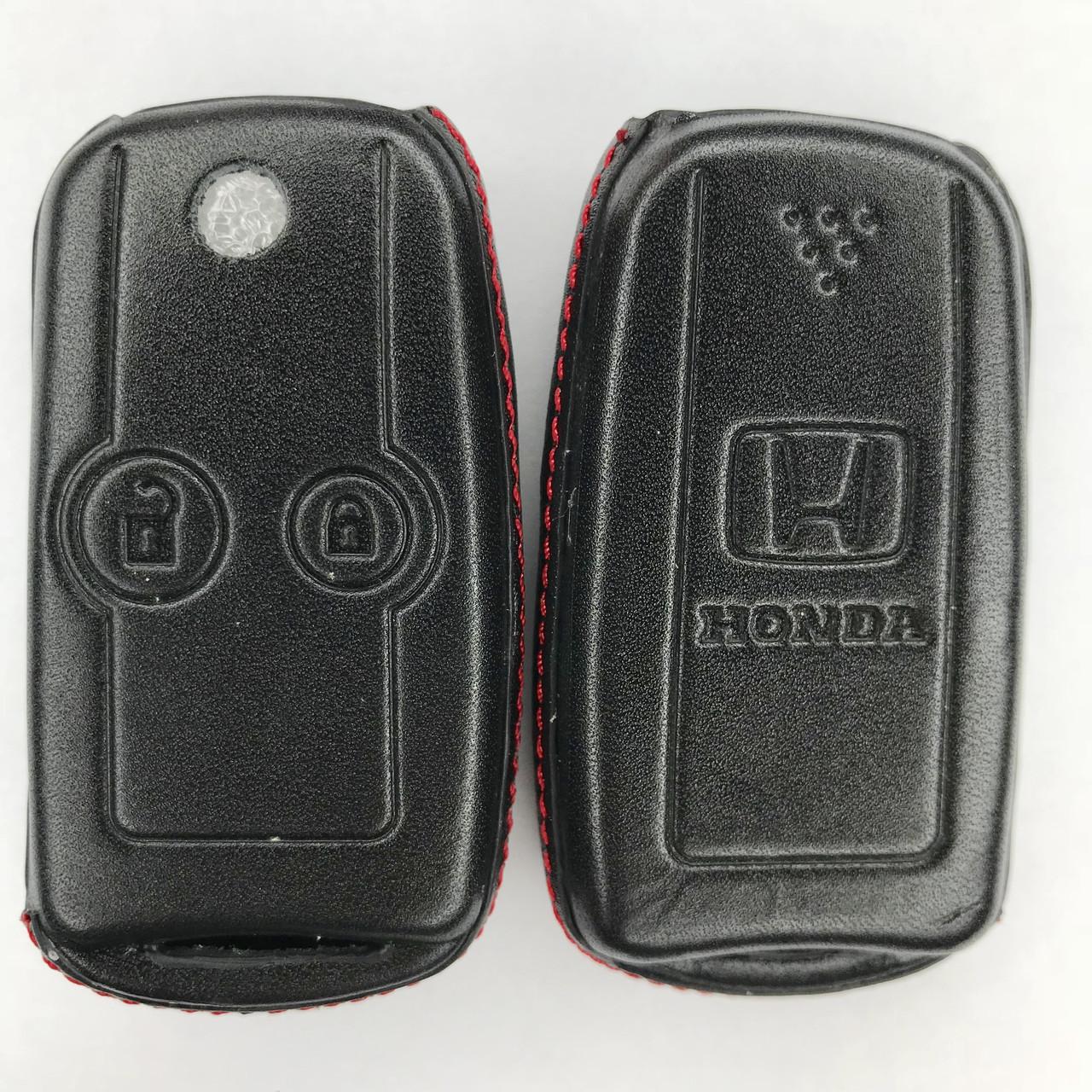 Кожаный чехол для ключа Honda Accord,Civic,Civic Type R,Crosstour, CR-V,Fit,FR-V,HR-V,jazz,Pilot