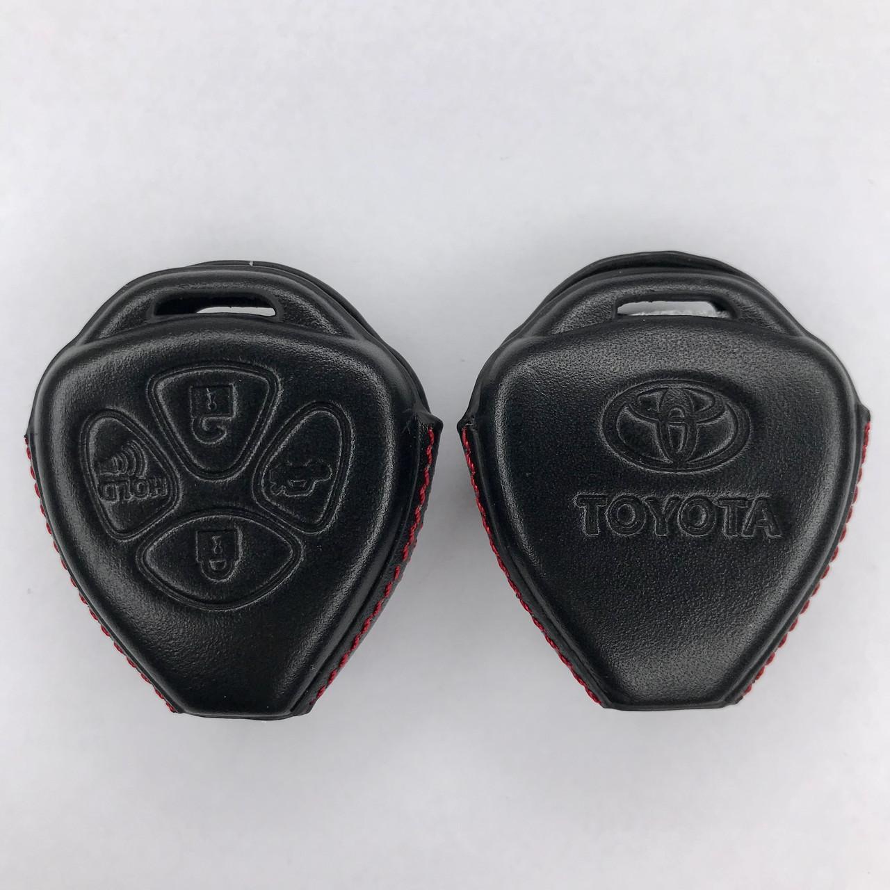 Кожаный чехол чехол для ключа Toyota Yaris,Auris,Highlander, Land Cruiser,Rav4,Camry,Corolla, Avalon,Avensis