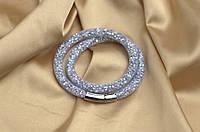 Двойной браслет  в стиле Stardust Swarovski Белый Сверкающий Премиум