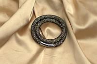 Двойной браслет  в стиле Stardust Swarovski Золотой Сверкающий Премиум