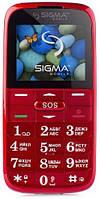 Мобильный телефон Sigma mobile Comfort 50 Slim 2 Dual Sim Red; 2.2 (220x170) TN / клавиатурный моноблок / MediaTek MTK6260 / microSD до 32 ГБ / камера