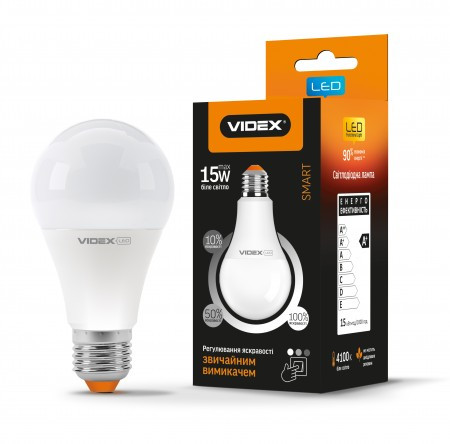 Led лампа с регулировкой яркости Videx a65ed3 15w e27 4100K 220V