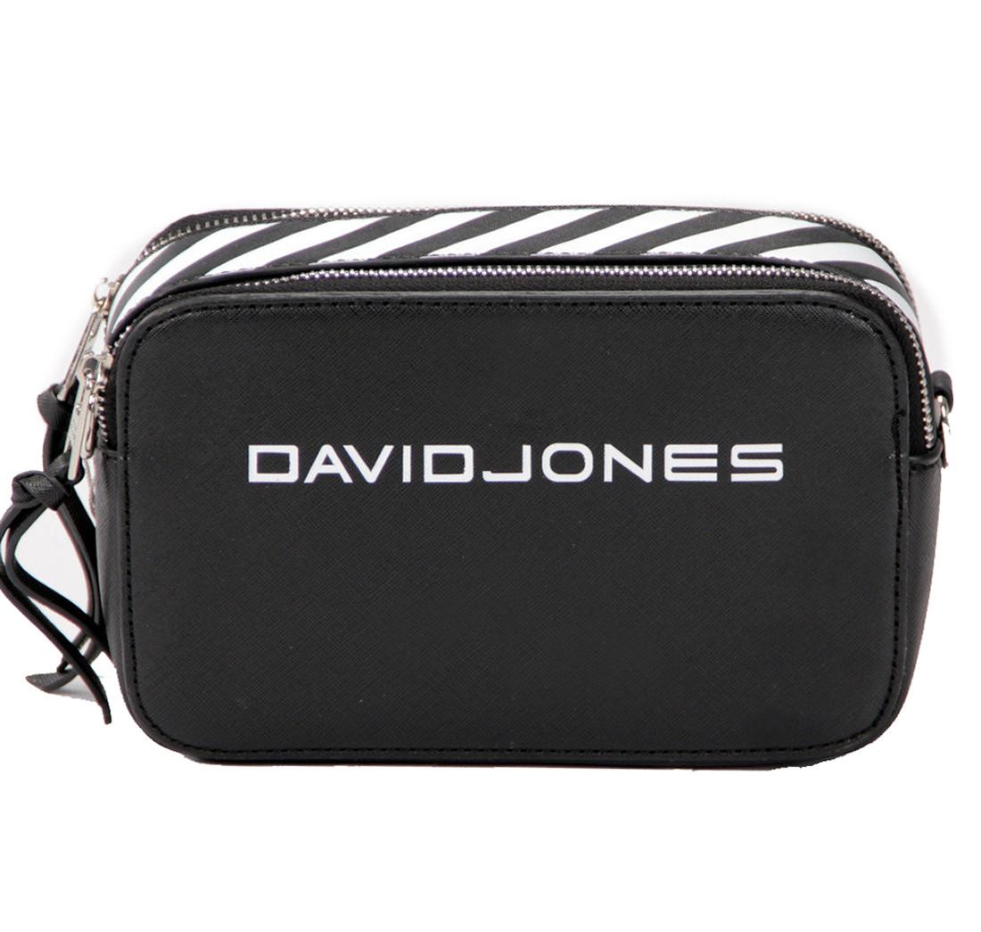 Женская сумка кросс-боди David Jones 13 х 21 х 7 см Черная (dj6169-1/1)