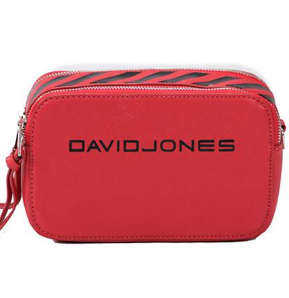 Женская сумка кросс-боди David Jones 13 х 21 х 7 см Красный (dj6169-1/2), фото 2