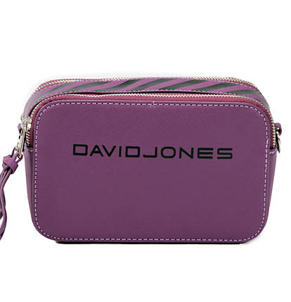 Женская сумка кросс-боди David Jones 13 х 21 х 7 см Фиолетовый (dj6169-1/3), фото 2