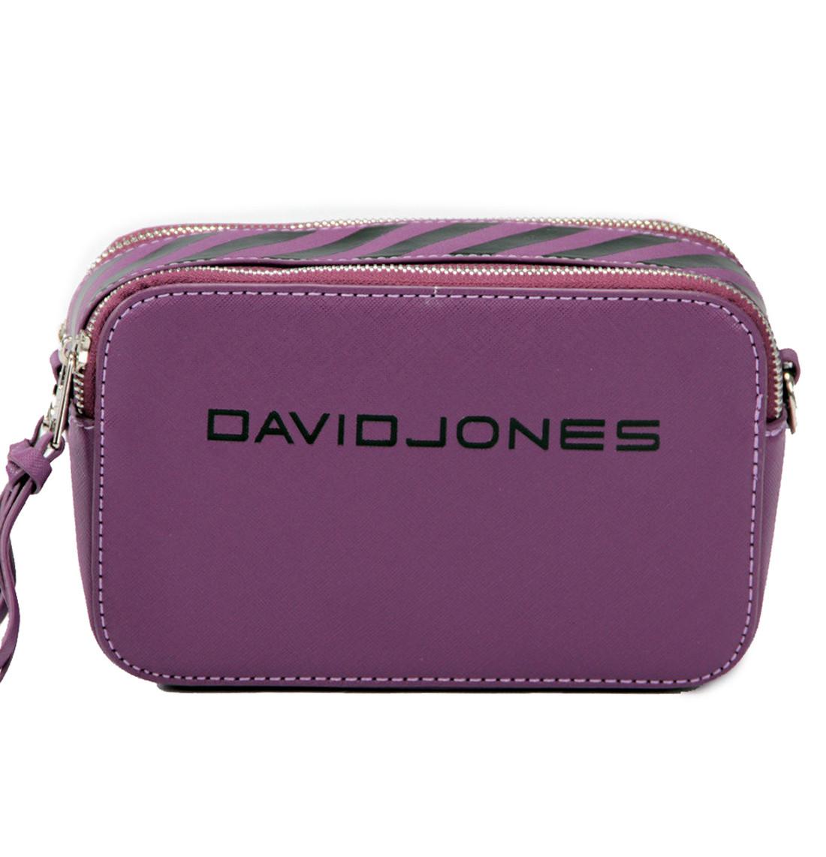 Женская сумка кросс-боди David Jones 13 х 21 х 7 см Фиолетовый (dj6169-1/3)