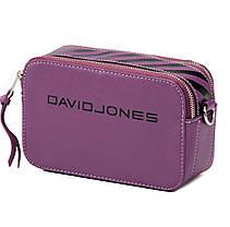 Женская сумка кросс-боди David Jones 13 х 21 х 7 см Фиолетовый (dj6169-1/3), фото 3