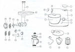 Кухонный комбайн 3в1  планетарный Royalty Line RL-PKM-1900.7BG BLACK 1900 Вт, фото 7