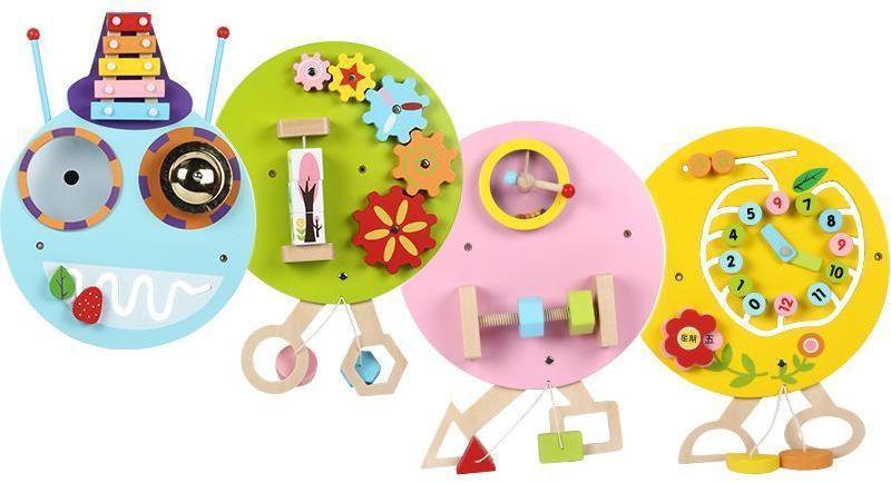 """Развивающая деревянная игрушка - бизиборд """"Гусеница"""""""