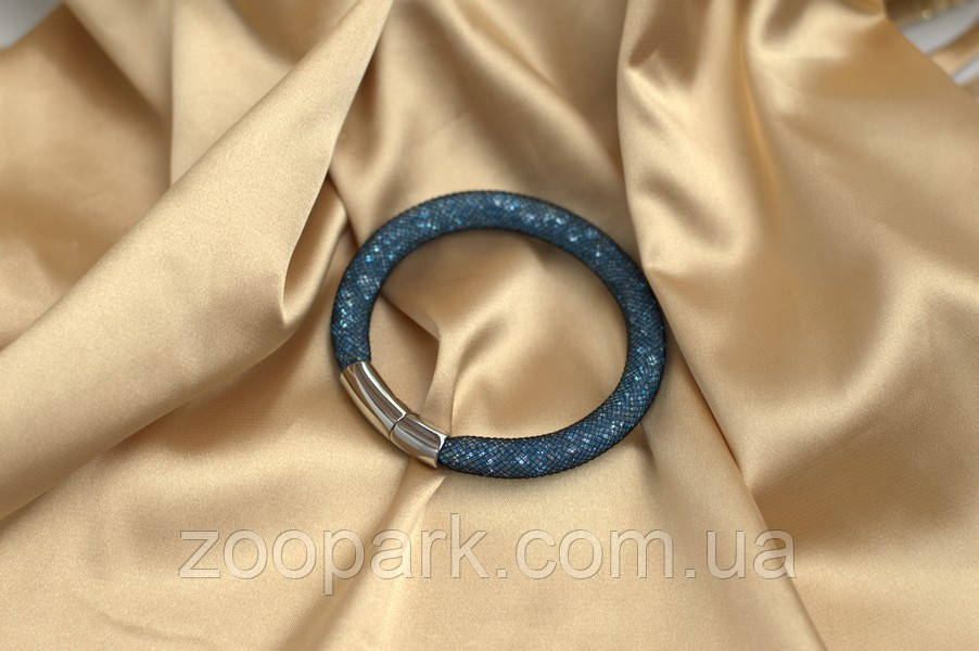 Черно-бирюзовый браслет