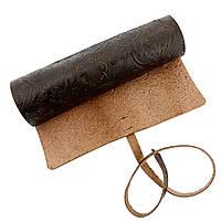 Дорожный чехол Treetshave кожаный для классической бритвы Коричневый (5003)