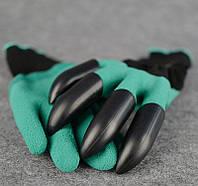 Перчатки садовые с когтями Garden Genie Gloves для сада и огорода (Fr432q)