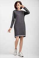 Стильное женское платье с карманами антрацит