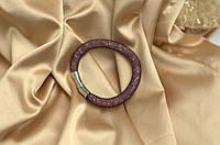 Одинарный браслет  в стиле Stardust Swarovski Черная роза  Премиум