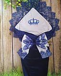 Конверт с вышивкой  для новорожденных весна-лето-осень,   78*78 см, фото 3