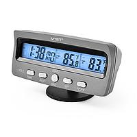 Автомобильные часы с термометром и вольтметром VST 7045V Серый (gab_krp134UNFk94644)