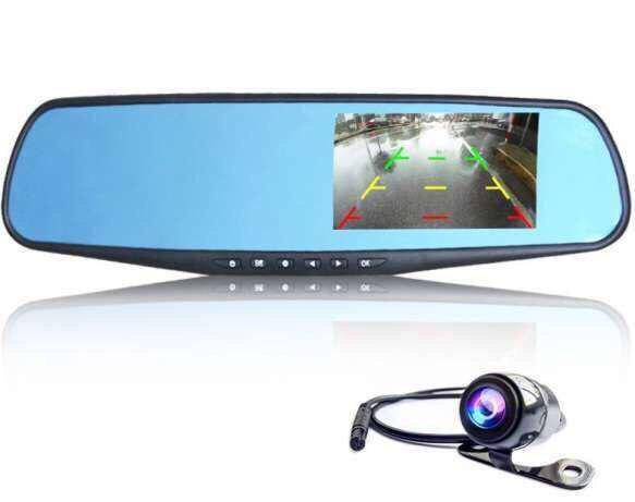 Видеорегистратор-зеркало Noisy DVR 138 Full HD с камерой заднего вида Черный (R0174)