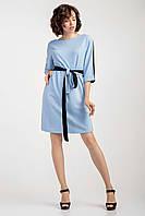 Двухцветное женское платье с голубым