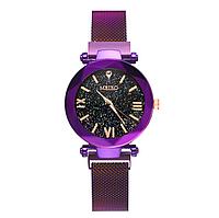 Женские кварцевые часы с магнитным ремешком Meibo Purple