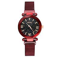 Женские кварцевые часы с магнитным ремешком Meibo Red