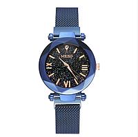 Женские кварцевые часы с магнитным ремешком Meibo Blue