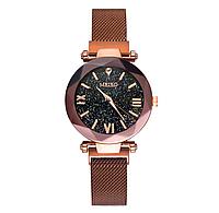 Женские кварцевые часы с магнитным ремешком Meibo Brown