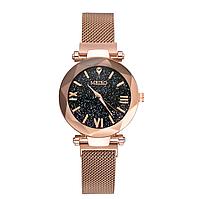 Женские кварцевые часы с магнитным ремешком Meibo Gold