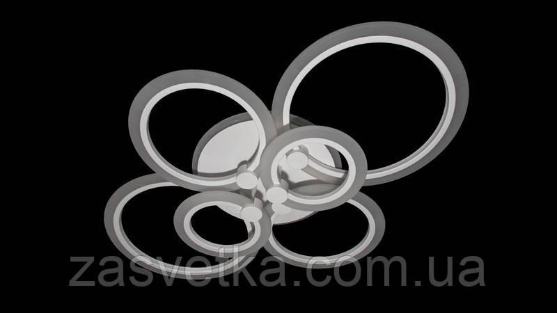 Потолочная светодиодная люстра с  подсветкой 105W  223584/6 (бел,серый,кор,черный