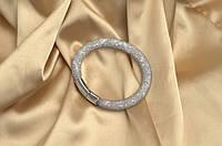 Одинарный браслет  в стиле Stardust Swarovski  Серый лед Премиум