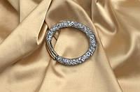 Одинарный браслет  в стиле Stardust Swarovski Серый Сверкающий Премиум