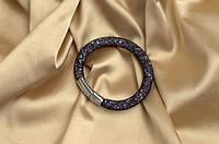 Одинарный браслет  в стиле Stardust Swarovski Сиреневый Сверкающий Премиум
