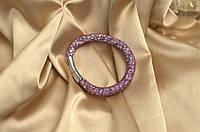 Одинарный браслет  в стиле Stardust Swarovski Розовый Сверкающий Премиум