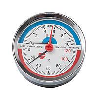 Термоманометр фронтальный 80 мм SANLUX termo