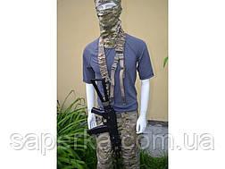 Ремень оружейный  трехточечный (Мультикам, Черный, Укр. пиксель), фото 2