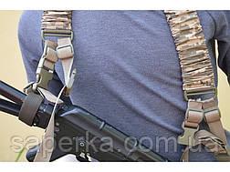 Ремень оружейный  трехточечный (Мультикам, Черный, Укр. пиксель), фото 3
