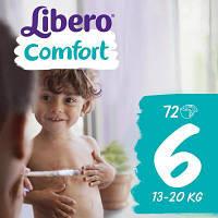 Подгузник Libero Comfort 6 (13-20 кг) 72 шт (7322540491159)