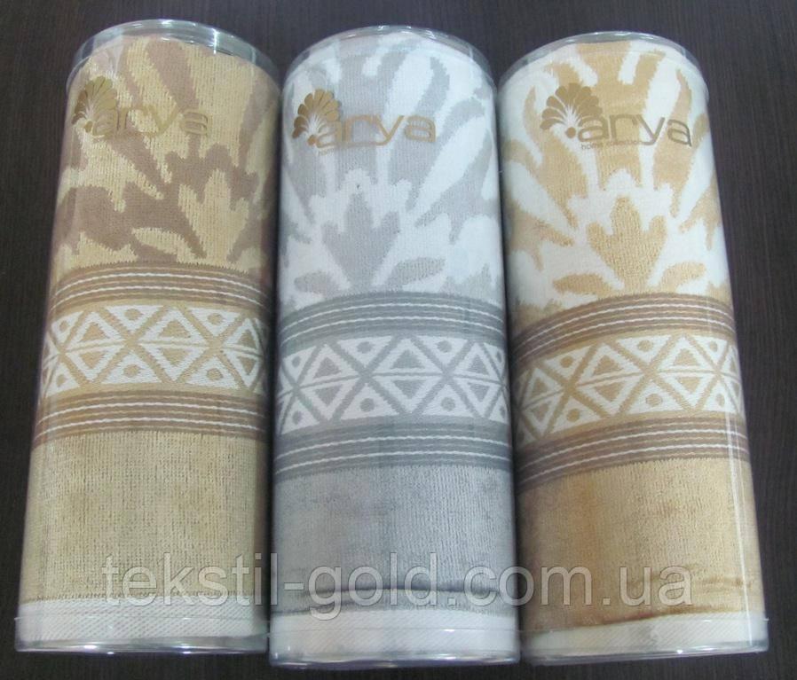 Полотенце ARYA (Турция) Ozdilek в Тубе велюр 50x100 см Orient, коричневое - Текстиль Голд в Харькове