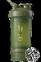 Шейкер спортивный BlenderBottle ProStak 650 ml с 2-мя контейнерами Moss Green